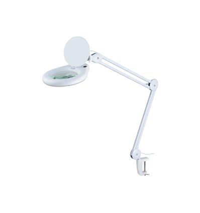 LAMPARA C/ LUPA 5 DIOPTRIAS CON PINZA PARA FIJACION 60 LEDS 14W